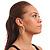 Classic Austrian Crystal Hoop Earrings In Rhodium Plating - 5.5cm D - view 3