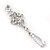 Bridal Clear Cz Chandelier Drop Earring In Rhodium Plating - 8cm Length - view 10