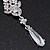 Bridal Clear Cz Chandelier Drop Earring In Rhodium Plating - 8cm Length - view 3