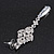 Bridal Clear Cz Chandelier Drop Earring In Rhodium Plating - 8cm Length - view 8