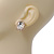 Small Oval Clear Glass Stud Earrings In Gold Plating - 2cm Length - view 3