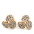 Gold Plated Crystal 'Trinity Circles' Stud Earrings - 1.5cm - view 4
