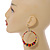 Large Multicoloured Glass & Wood Bead Hoop Earrings In Silver Plating - 8cm Length - view 3