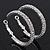 Rhodium Plated Clear Austrian Crystal Double-Hoop (Medium) - 38mm D - view 10