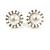 Bridal Diamante Faux Pearl Stud Earrings In Rhodium Plating - 17mm Diameter