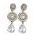 Bridal Clear Swarovski Crystal and CZ Chandelier Earrings In Silver Plating - 60mm Length - view 2