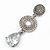 Bridal Clear Swarovski Crystal and CZ Chandelier Earrings In Silver Plating - 60mm Length - view 10