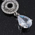 Bridal Clear Swarovski Crystal and CZ Chandelier Earrings In Silver Plating - 60mm Length - view 7