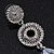 Bridal Clear Swarovski Crystal and CZ Chandelier Earrings In Silver Plating - 60mm Length - view 6