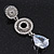 Bridal Clear Swarovski Crystal and CZ Chandelier Earrings In Silver Plating - 60mm Length - view 5