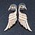 Gold Plated 'Swan' Stud Earrings - 45mm Length