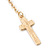 Long Pave Set Crystal Double Cross Chain Drop Earrings In Gold Plating - 11.5cm Length - view 6