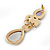 Multicoloured Glass Stone Linear Drop Earrings In Gold Plating - 73mm Length - view 5