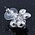 Multicoloured Crystal 'Daisy' Stud Earrings In Rhodium Plating - 20mm Diameter - view 5