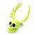 Teen Skull and Antlers Stud Earrings in Neon Yellow - 3.5cm in Height - view 3