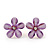 Lavender Acrylic 'Daisy' Stud Earrings In Gold Plating - 25mm Diameter