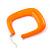 Large Matte Acrylic Square Doorknocker Hoop Earrings in Neon Orange - 6cm Diamete - view 4