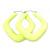 Large Matte Acrylic Square Doorknocker Hoop Earrings in Neon Yellow - 6cm Diameter