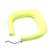 Large Matte Acrylic Square Doorknocker Hoop Earrings in Neon Yellow - 6cm Diameter - view 4
