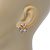 'Butterfly In The Crystal Circle' Stud Earrings In Gold Plating - 17mm Diameter - view 2