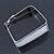 Contemporary Square White Enamel Hoop Earrings In Rhodium Plating - 50mm Width - view 7