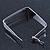 Contemporary Square White Enamel Hoop Earrings In Rhodium Plating - 50mm Width - view 5