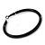 Large Black Enamel Hoop Earrings In Silver Tone - 60mm Diameter - view 4