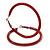Large Red Enamel Hoop Earrings In Silver Tone - 60mm Diameter - view 4