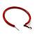 Large Red Enamel Hoop Earrings In Silver Tone - 60mm Diameter - view 6
