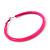 Large Neon Pink Enamel Hoop Earrings In Silver Tone - 60mm Diameter - view 3