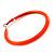 Large Neon Orange Enamel Hoop Earrings In Silver Tone - 60mm Diameter - view 3