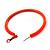 Large Neon Orange Enamel Hoop Earrings In Silver Tone - 60mm Diameter - view 5