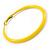 Large Yellow Enamel Hoop Earrings In Silver Tone - 60mm Diameter - view 4