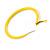 Large Yellow Enamel Hoop Earrings In Silver Tone - 60mm Diameter - view 6