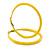Large Yellow Enamel Hoop Earrings In Silver Tone - 60mm Diameter - view 3