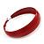 Wide Medium Red Enamel Hoop Earrings - 40mm Diameter - view 6