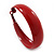 Wide Medium Red Enamel Hoop Earrings - 40mm Diameter - view 7