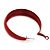 Wide Medium Red Enamel Hoop Earrings - 40mm Diameter - view 8
