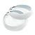 Wide Large White Enamel Hoop Earrings - 55mm Diameter - view 4