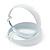 Wide Large White Enamel Hoop Earrings - 55mm Diameter