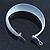 Wide Large White Enamel Hoop Earrings - 55mm Diameter - view 9