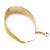 Gold Plated Yellow Enamel Oval Hoop Earrings - 6cm Length - view 6