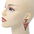 Multicoloured Enamel Geometric Egyptian Style Drop Earrings In Gold Plating - 55mm Length - view 7