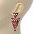 Multicoloured Enamel Geometric Egyptian Style Drop Earrings In Gold Plating - 55mm Length - view 2