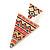 Multicoloured Enamel Geometric Egyptian Style Drop Earrings In Gold Plating - 55mm Length - view 4