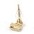Children's/ Teen's / Kid's Tiny Navy Blue Enamel 'Crown' Stud Earrings In Gold Plating - 8mm Length - view 4