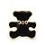 Children's/ Teen's / Kid's Tiny Black Enamel 'Teddy Bear' Stud Earrings In Gold Plating - 8mm Length - view 2