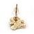 Children's/ Teen's / Kid's Tiny Black Enamel 'Teddy Bear' Stud Earrings In Gold Plating - 8mm Length - view 4