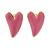 Children's/ Teen's / Kid's Small Baby Pink Enamel 'Heart' Stud Earrings In Gold Plating - 9mm Length