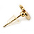 Children's/ Teen's / Kid's Tiny Red Enamel 'Apple' Stud Earrings In Gold Plating - 8mm Length - view 4